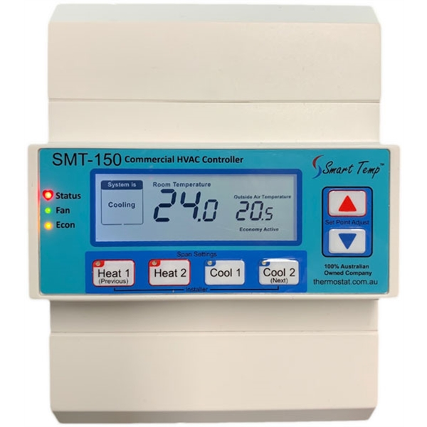 A wall temperature thermostat.