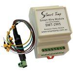 A white Smart Temp wire module.